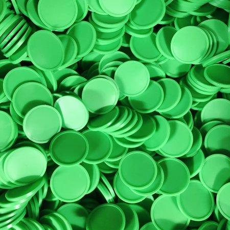 CombiCraft Blanco plastic munten met rand 100 stuks Ø29mm diverse kleuren