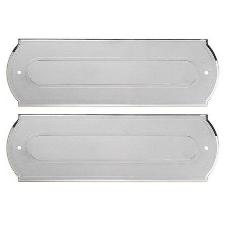 CombiLux 100% Elox Aluminium Zilverkleurige en gepolijste brievenbus in de maat 280x90mm.  De opening gaat naar binnen open (duwen)