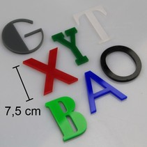 Plexiglas 3D Letters of Cijfers 75mm hoog