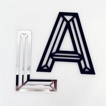 3D Plexiglas  Stencil Letters