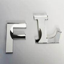 3D Plexiglas Spiegel Letters met tape