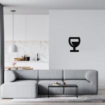 Plexiglas 3D Wijnglas