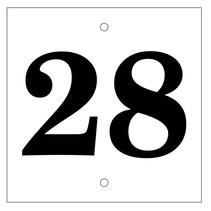 Huisnummer bordje White Type 1
