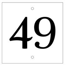 Huisnummer bordje White Type 3