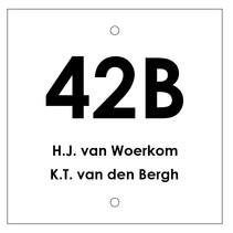 Huisnummer bordje met 2 tekstregels Type 2