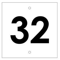 Huisnummer bordje White Type 2