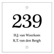 Huisnummer bordje met 2 tekstregels Type 3