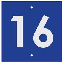 Huisnummer bordje BlauwType 2