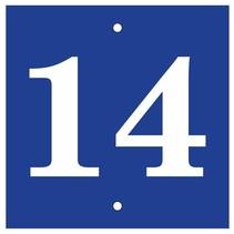 Huisnummer bordje Blauw Type 1