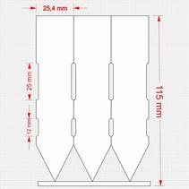 1000 Steeketiketten op rol 115 x 25,4mm
