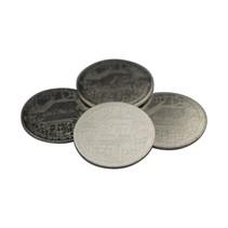 Staal vernikkelde XL VIP-munten, 100 stuks Ø40x2,0mm