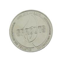 Staal vernikkelde Sprouts-munt, 100 stuks  Ø40x2,0mm