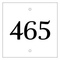 Huisnummer bordje Wit Type 3