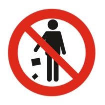 Verboden afval te dumpen bordje