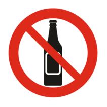 Verboden alcohol te drinken bordje