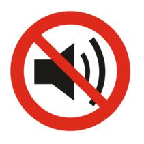 Verboden lawaai te maken bordje