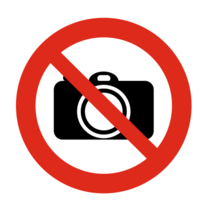 Verboden te fotograferen bordje