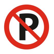 Verboden te parkeren bordje