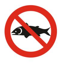 Verboden te vissen bordje