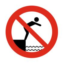 Verboden te duiken bordje
