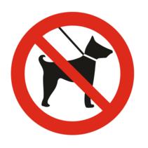 Verboden voor honden bordje