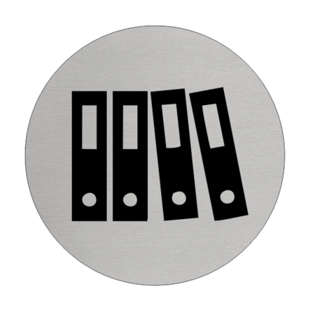 CombiCraft Aluminium Deurbordje Archief 75mm rond met tape