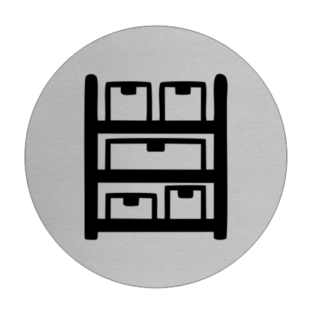 CombiCraft Aluminium Deurbordje Voorraadkast 75mm rond met tape