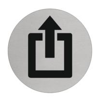 Uitgang  Aluminium pictogram bordje