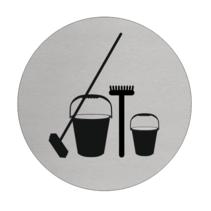 Werkkast  Schoonmaak Aluminium pictogram bordje