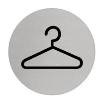 Garderobe Aluminium pictogram deurbordje
