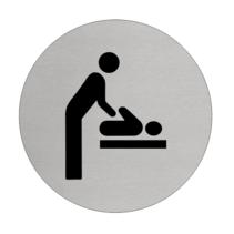Baby verschonen  Aluminium pictogram deurbordje