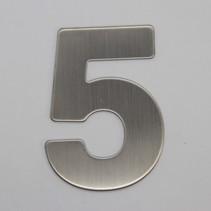 RVS 3D Nummer 5 zonder bevestiging