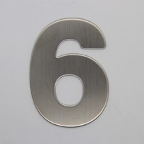 RVS 3D Nummer 6 zonder bevestiging