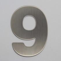 RVS 3D Nummer 9 zonder bevestiging