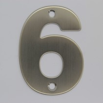 RVS 3D Nummer 6 met boorgaten