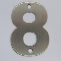 RVS 3D Nummer 8 met boorgaten