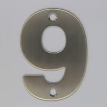 RVS 3D Nummer 9 met boorgaten