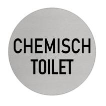 Chemisch Toilet bordje Aluminium