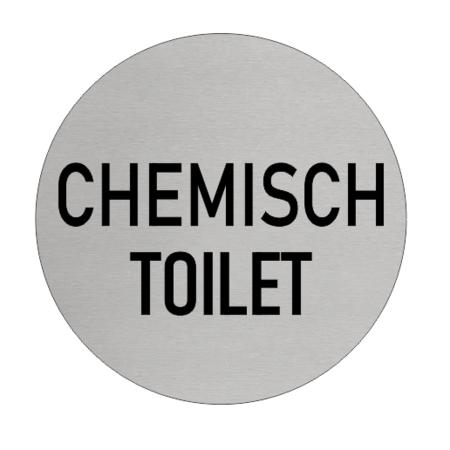 CombiCraft Chemisch Toilet bordje Aluminium Ø75mm met tape