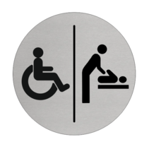 Invalide & Baby verzorgingruimte bordje Aluminium