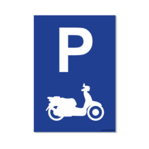 Parkeerplaats Scooter Bord
