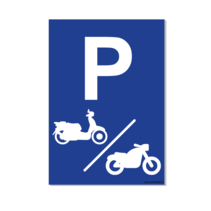 Parkeerplaats Motor & Scooter Bord