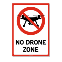 Verboden voor drones Bord