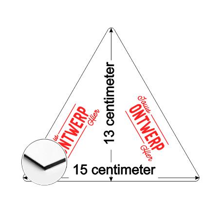 CombiCraft Driehoek Aluminium Combipaneel bord 15x13cm met jouw eigen ontwerp