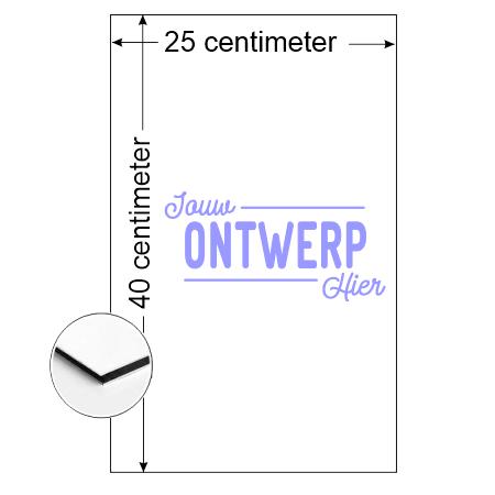 CombiCraft Rechthoek Aluminium Combipaneel bord 25x40cm met jouw eigen ontwerp