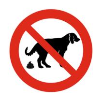 Verboden voor honden poep