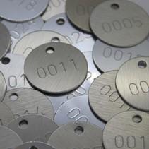 Elox-Aluminium sleutellabel met ingeslagen cijfers
