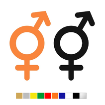 Plexiglas WC pictogram Man & Vrouw