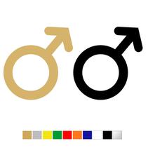 Plexiglas WC pictogram Man