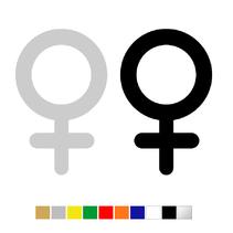Plexiglas WC pictogram Vrouw